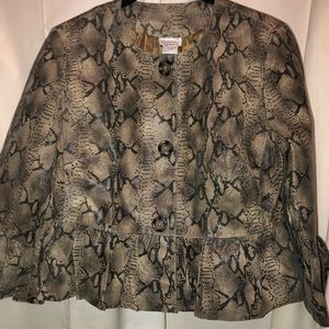 NWT Newport News leather/suede cropped jacket